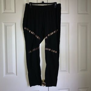 torrid Plus Size Black & Gold Mesh Leggings